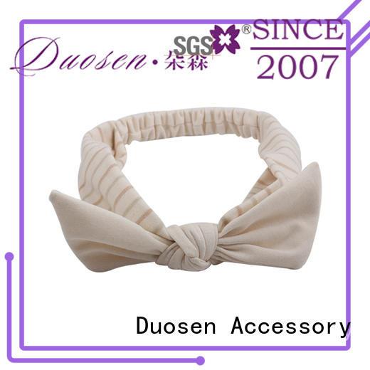 Duosen Accessory charming organic fabric bow headband wholesale for prom