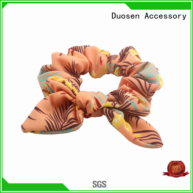 Duosen Accessory recycled fabric scrunchies wholesale for women