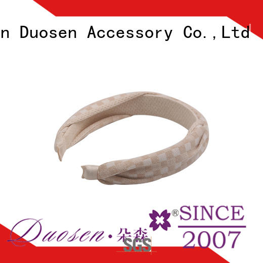 Duosen Accessory elastic fabric bow headband with regular use for running