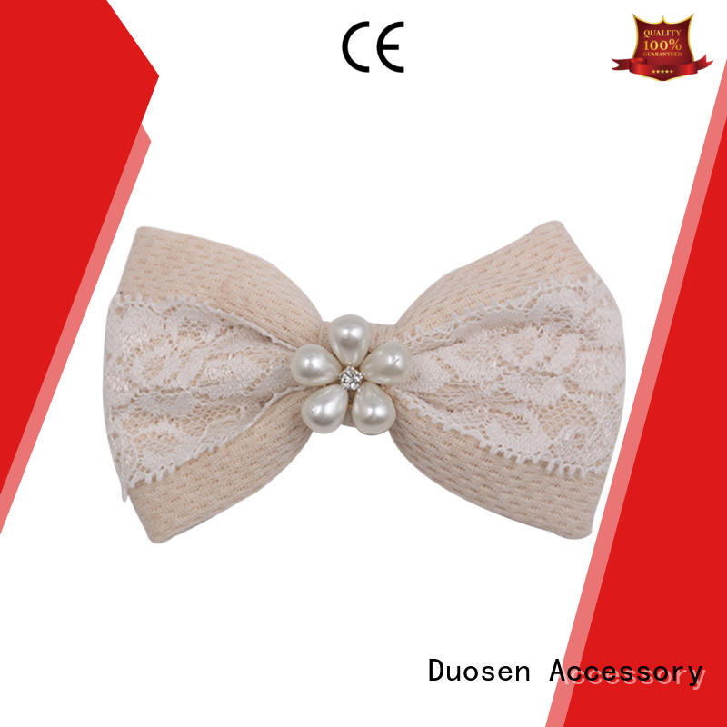 Duosen Accessory Brand pattern fancy eco fabric bow hair clip