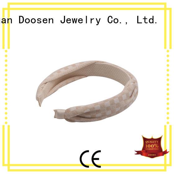Duosen Accessory Brand milk white fresh organic material cross headband