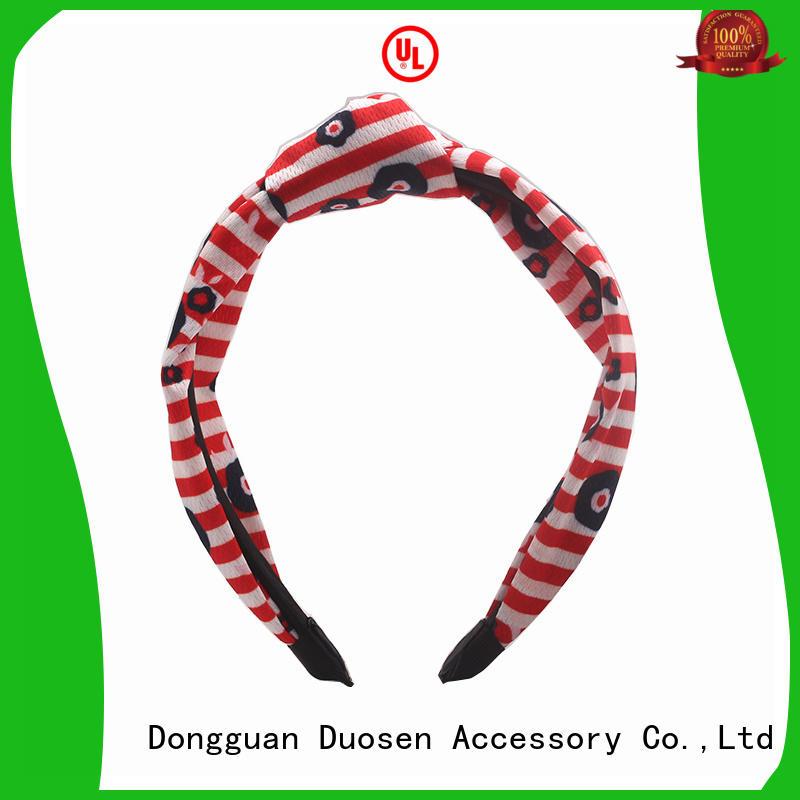 Duosen Accessory bow fabric bow headband customized for party