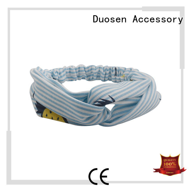 unique band knotted Duosen Accessory Brand organic material cross headband manufacture