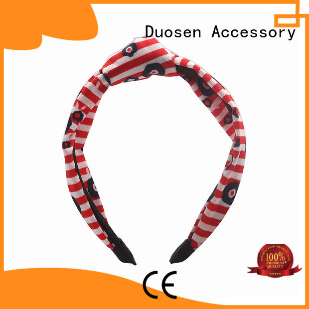 Duosen Accessory milk organic fabric headband manufacturer for dancer