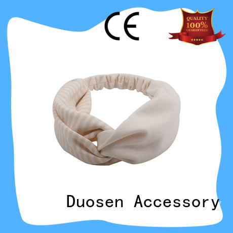 Duosen Accessory eco-friendly fabric bow headband wholesale for dancer