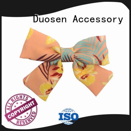 organic fabric girls hair clip hawaii ecofriendly Duosen Accessory Brand company