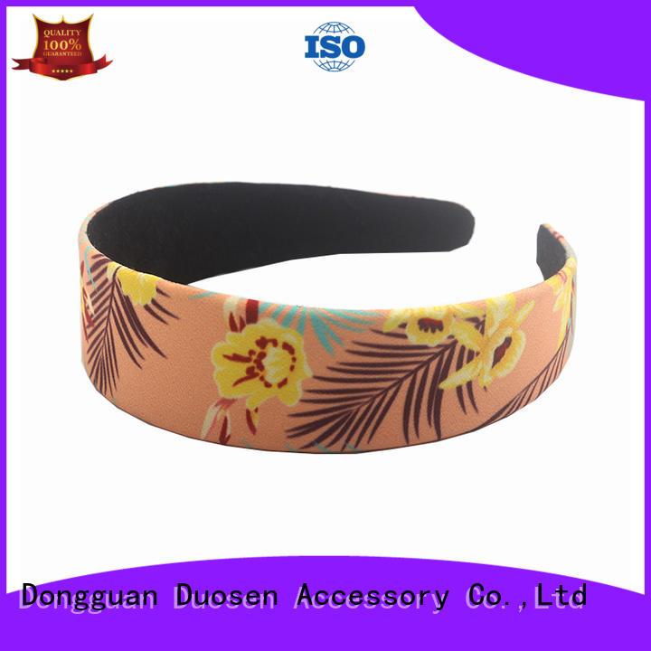 Duosen Accessory scrunch girls fabric headbands factory for running