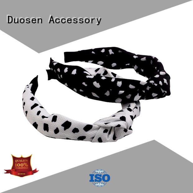 New fabric tie headbands flowers company for daily Life