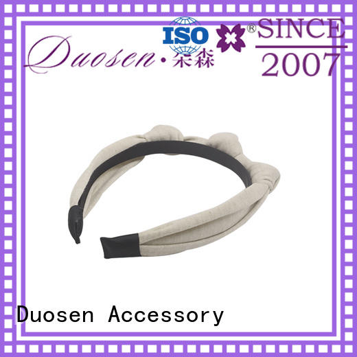 High-quality organic fabric bow headband coffee for business for sports