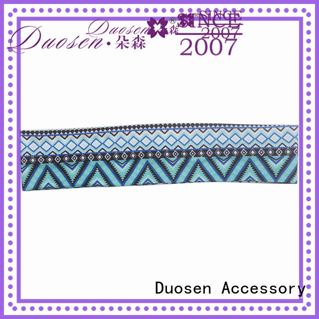 Duosen Accessory cow fabric bow headband supplier for daily Life