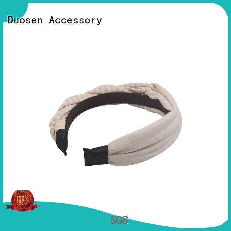 Duosen Accessory wave wire fabric headband customized for party