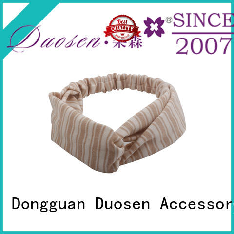 Duosen Accessory charming turban headband woman geometric for dancer