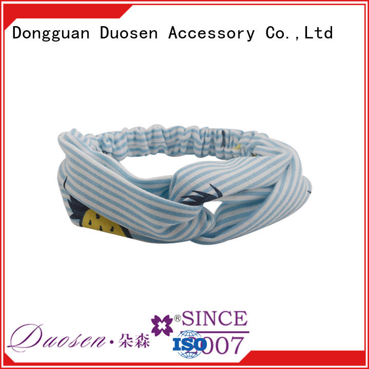 Duosen Accessory red fabric hair bands Suppliers for dancer