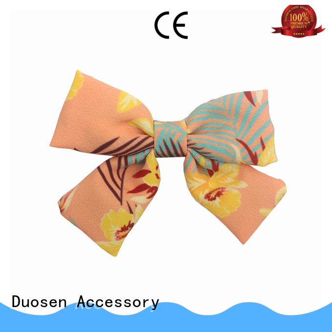 Duosen Accessory fabric how to make hair barrettes manufacturer for girls