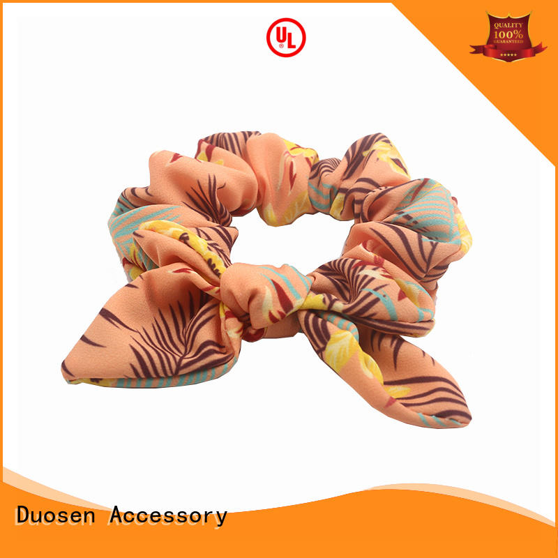 Duosen Accessory high quality scrunchie hair ties customized for girls