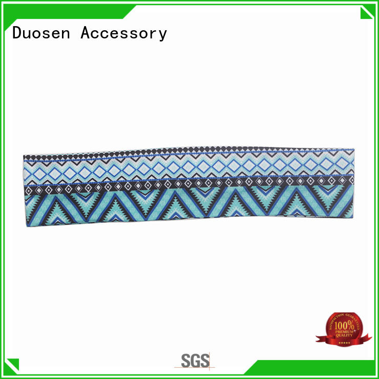 Duosen Accessory elegant fabric hair bands series for sports
