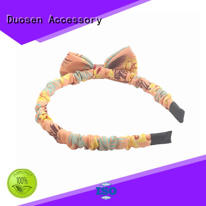 girls fabric headbands recycled for dancer Duosen Accessory