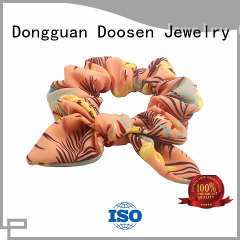 Duosen Accessory Brand color urban style organic material hair scrunchy