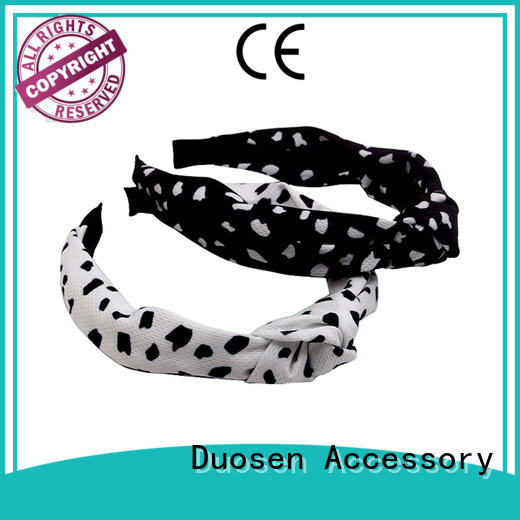 Duosen Accessory Custom fabric tie headbands Suppliers for daily Life