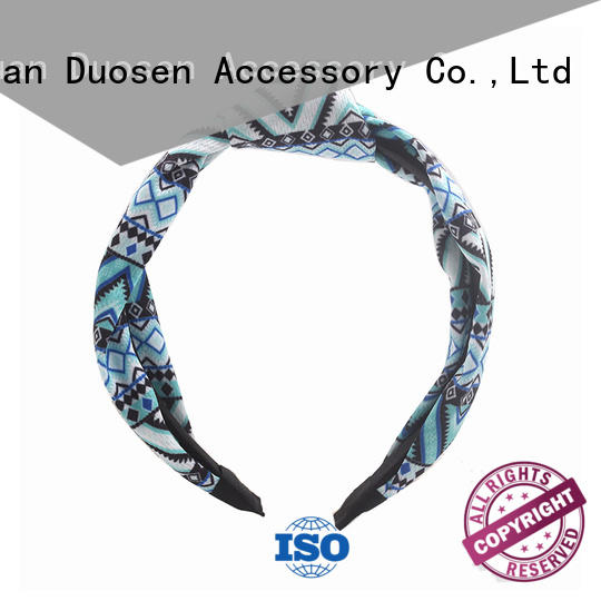 Duosen Accessory covered fabric hair bands customized for dancer