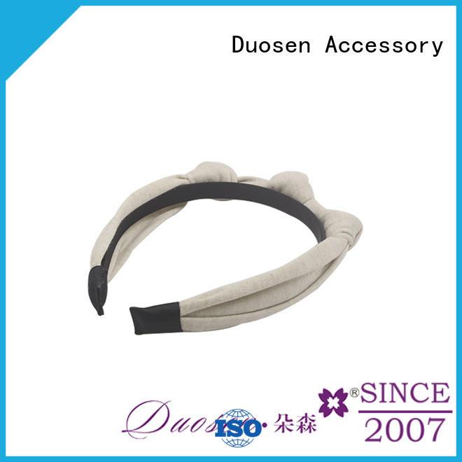 Duosen Accessory coffee organic fabric bow headband company for sports
