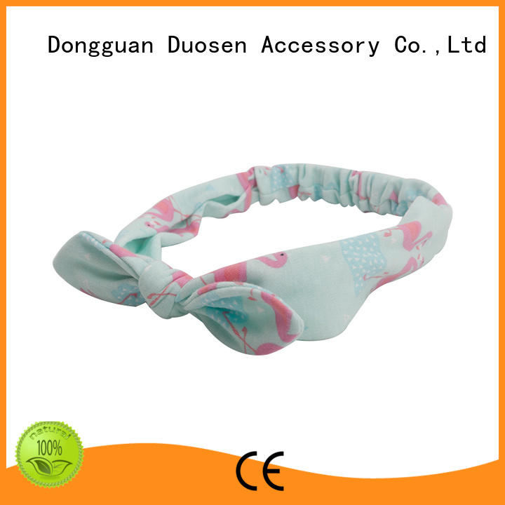 Duosen Accessory flamingo fabric tie headbands Supply for dancer