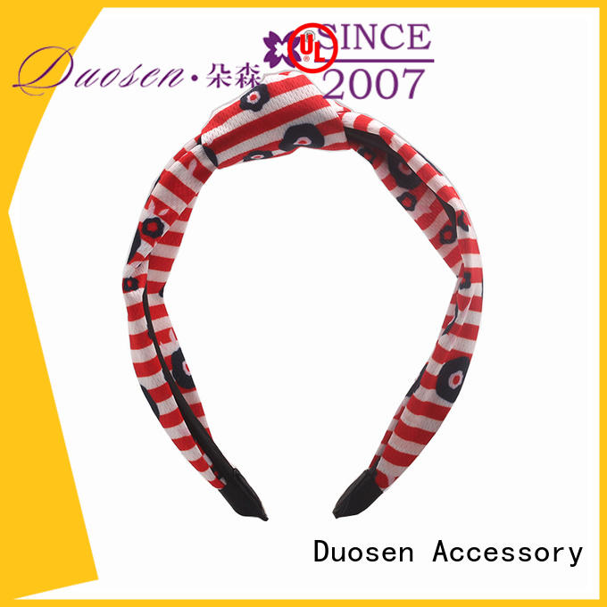 Duosen Accessory eco-friendly Recycled fabric elastic headband supplier for running