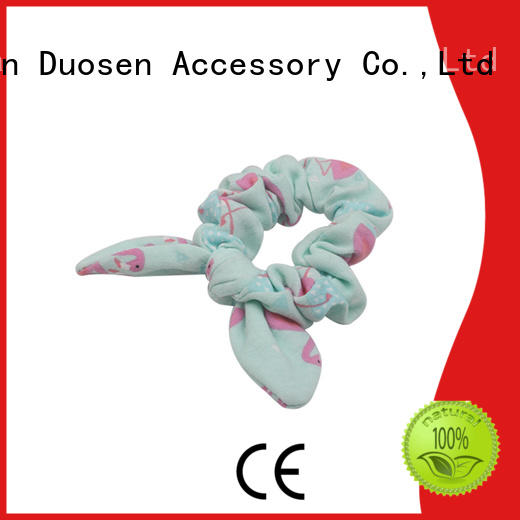 Duosen Accessory organic scrunchie hair ties manufacturer for girls