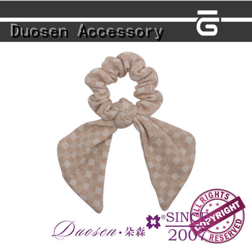 Duosen Accessory woman scrunchie hair ties Suppliers for girls