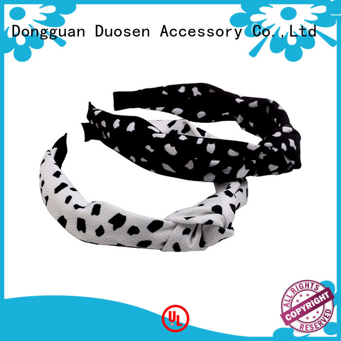 Duosen Accessory Wholesale fabric bow headband Suppliers for running