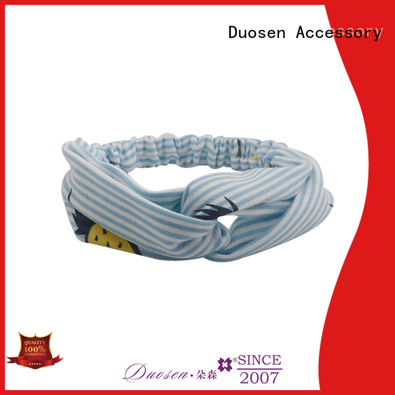 Duosen Accessory two fabric elastic headbands factory for prom