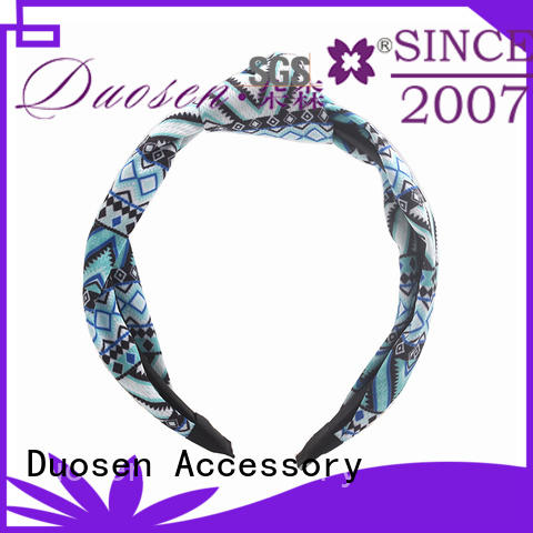 Duosen Accessory convinent Recycled material elastic headband with regular use for dancer
