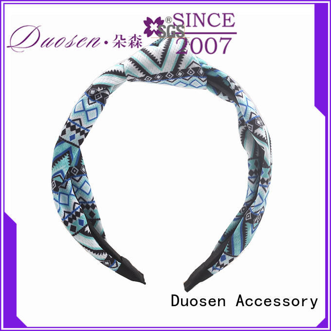Duosen Accessory flowers fabric bow headband Suppliers for dancer