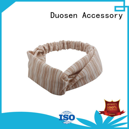 Duosen Accessory charming recycled fabric hairband series for sports