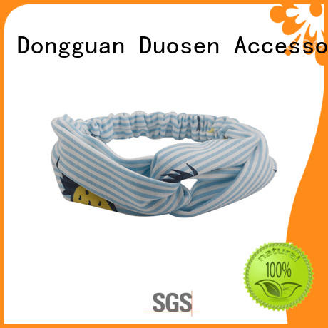Duosen Accessory eco-friendly fabric knot headband customized for sports
