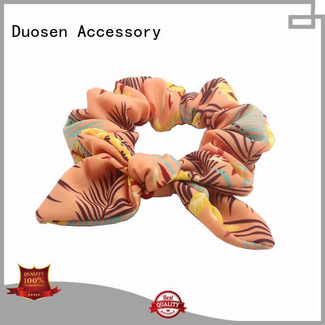 Duosen Accessory Brand woman ecofriendly custom organic material hair scrunchy