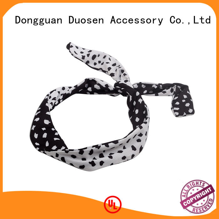 Duosen Accessory flower turban headband Supply for prom