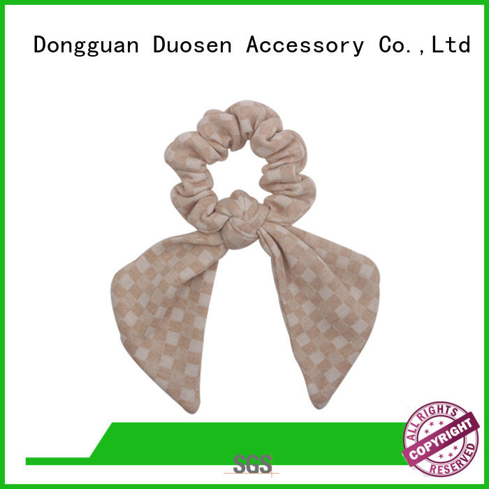 Duosen Accessory boho fabric scrunchies for business for women