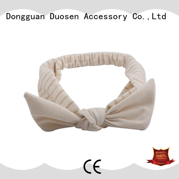 Duosen Accessory white fabric headbands for business for prom