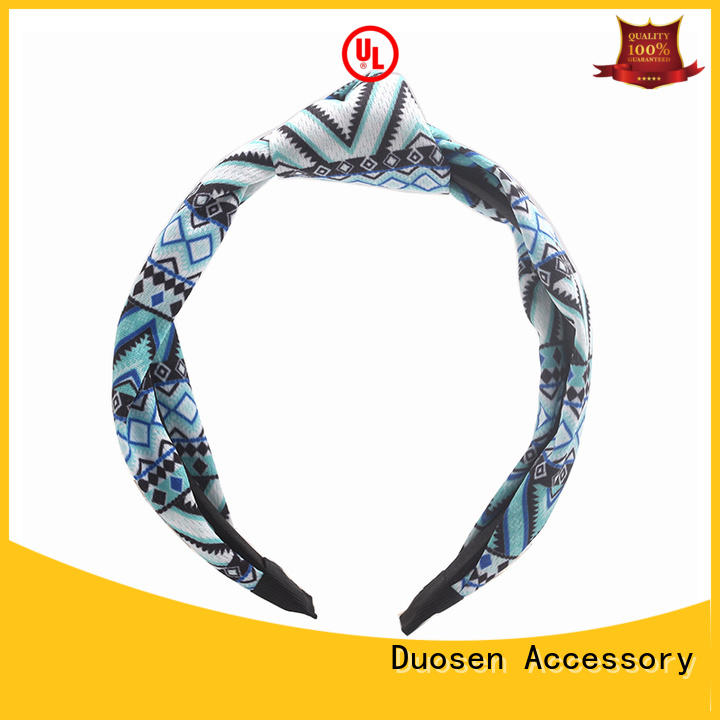 Duosen Accessory fresh recycled fabric hairband supplier for running