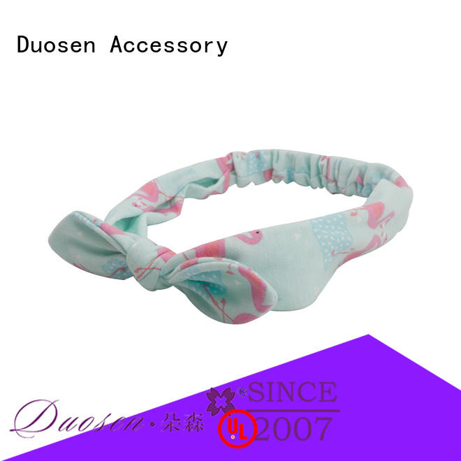 Duosen Accessory flamingo cotton turban headband Supply for dancer