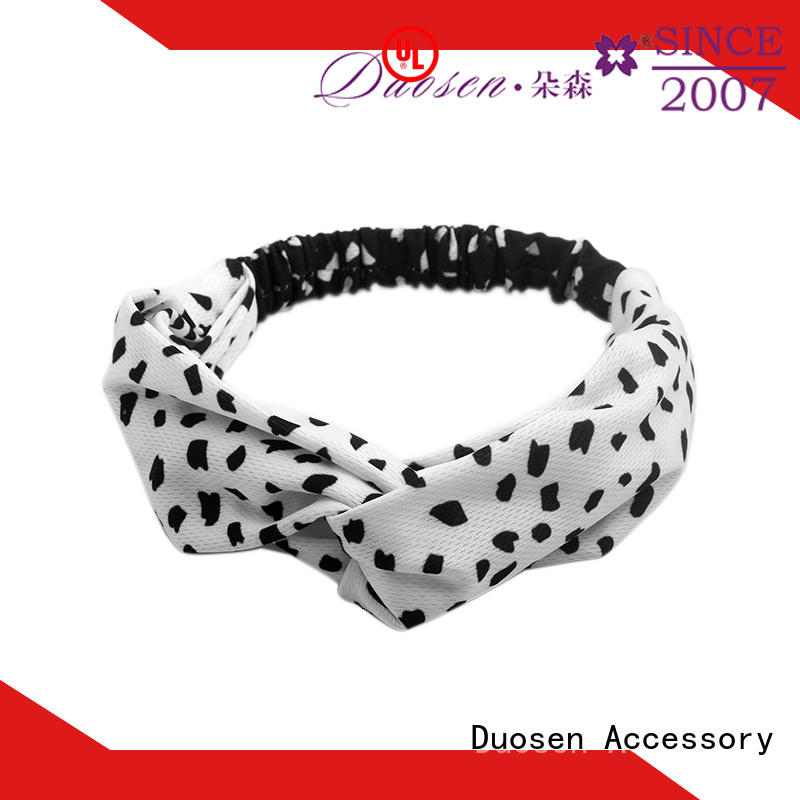 charming twisted fabric headband hairbands customized for party