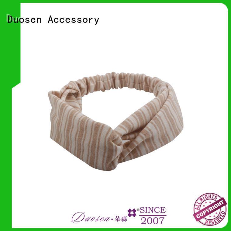 Duosen Accessory bow cotton turban headband supplier for daily Life