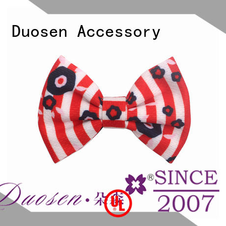 New fabric hair bow pattern bright company for party