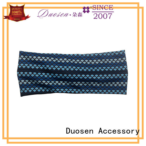 Duosen Accessory striped fabric headband Supply for running