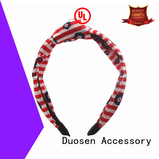 Duosen Accessory multifunctional fabric bow headband Supply for sports