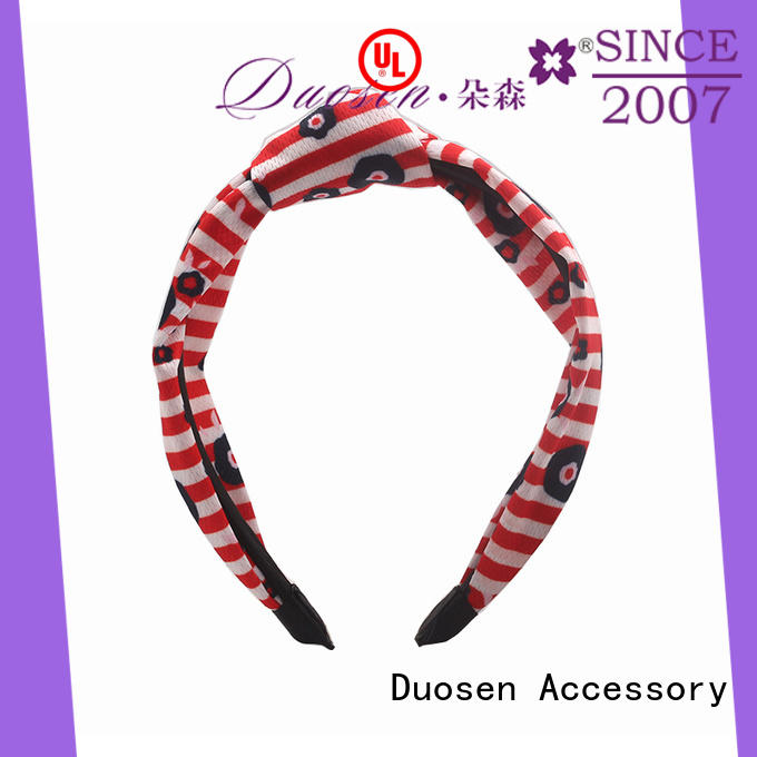 Duosen Accessory High-quality twisted fabric headband Supply for prom