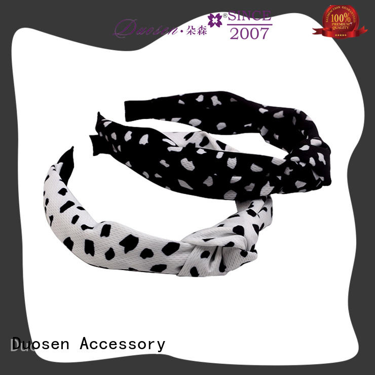 Duosen Accessory geometric fabric knot headband company for prom