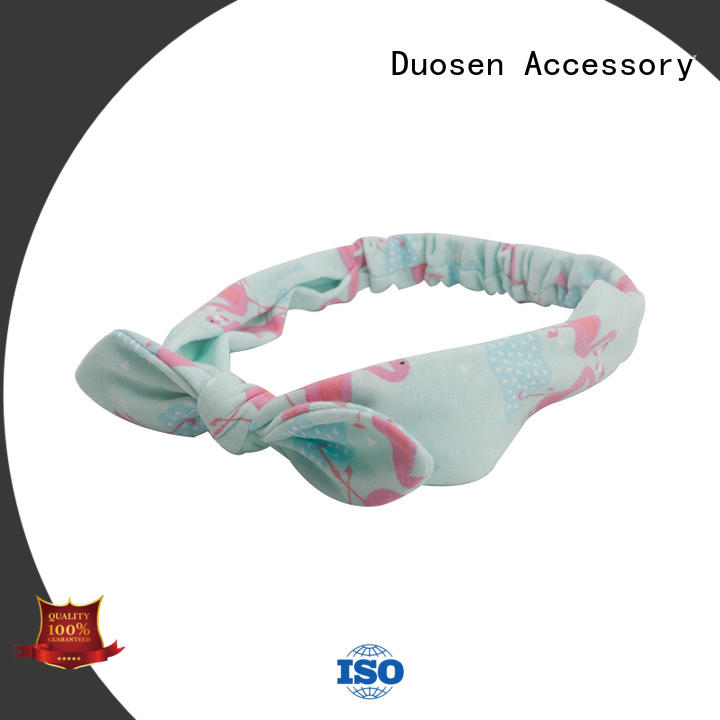 Duosen Accessory red organic fabric headband manufacturer for dancer