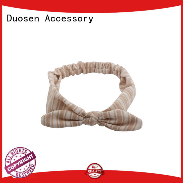 Duosen Accessory Brand sides multifunctional scrunch organic fabric headband manufacture